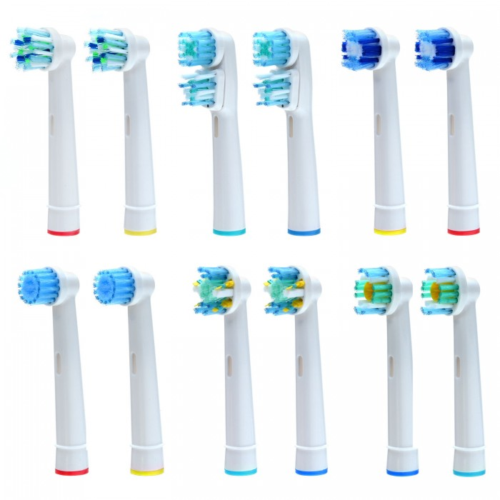 12 PCS 6 Types Toothbrush Heads Replacement for Oral-B Electric Toothbrush Pro Vitality