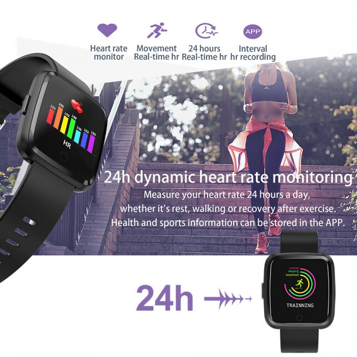 Sport Smart Watch Water Resistant Blood Pressure Heart Rate Monitor iOS Android